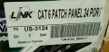 PATCH PANEL LINK CAT6 24 PORT(1U)
